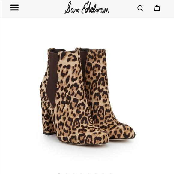 8721412e4 NEW Sam Edelman leopard booties. M 5bbeafab0cb5aaa8d38c9e85